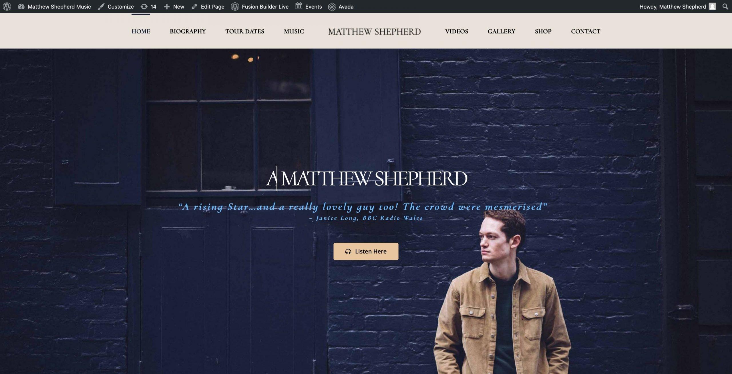 Matthew Shepherd Music Full Screen